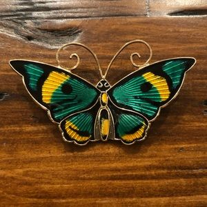 Vintage David Andersen Norway Sterling Butterly